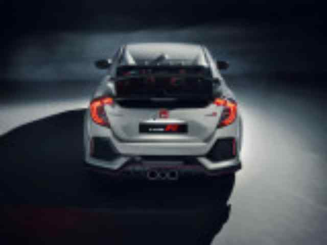 Новый Honda Civic Type R дизайн задней части кузова